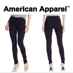 American Apparel Black Denim Pull-On Jeans Med